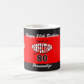 Caneca De Café Envelhecido à perfeição no aniversário do 80 de