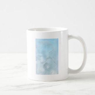 Caneca De Café Esboço da flor de duas tulipas no azul de gelo