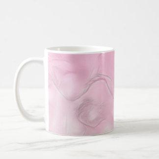 Caneca De Café Esboço da flor de duas tulipas no rosa