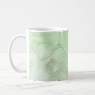 Caneca De Café Esboço da flor de duas tulipas no verde
