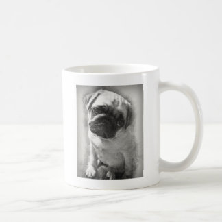 Caneca De Café Esboço do cão de filhote de cachorro do Pug