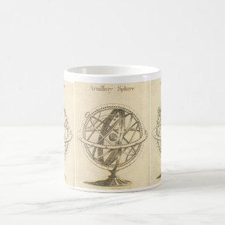 Caneca De Café Esboço do original da esfera Armillary