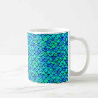 Caneca De Café Escalas do azul do Aqua de Falln