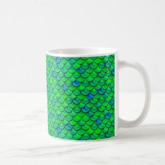 Caneca De Café Escalas verdes do azul de Falln