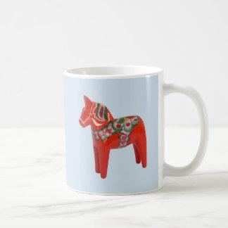 Caneca De Café Escandinavo do cavalo de Dala do sueco