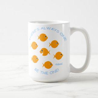 Caneca De Café Escola da divisa inspirada do professor do peixe