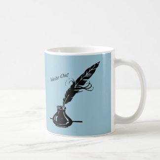Caneca De Café Escreva sobre! Os escritores do copo de café da