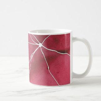 Caneca De Café Escuro - ruptura vermelha do mármore do