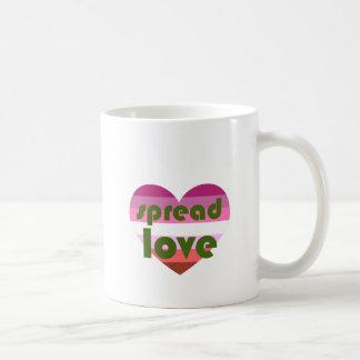 Caneca De Café Espalhe o amor lésbica