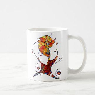 Caneca De Café Espanessua - flor espiral imaginária