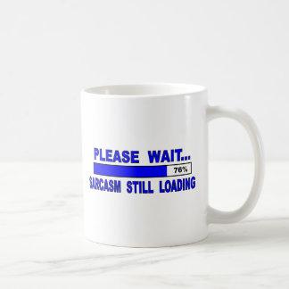 Caneca De Café Espere por favor…  Sarcasmo ainda que espera