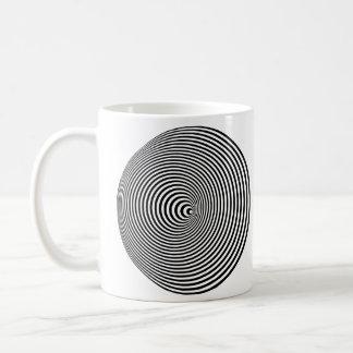 Caneca De Café Espiral da ilusão óptica - canhota