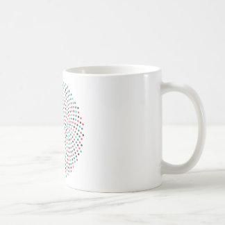 Caneca De Café Espiral do girassol de Fibonacci - melão