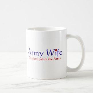 Caneca De Café Esposa do exército