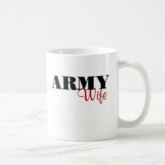 Caneca De Café Esposa do exército (cursive)