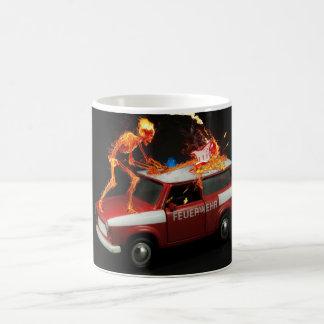 Caneca De Café Esqueleto do carro de bombeiros