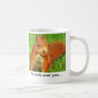 Caneca De Café Esquilo vermelho com uma porca, eu sou loucos