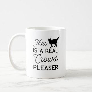 Caneca De Café Esse gato é uma multidão real por favor