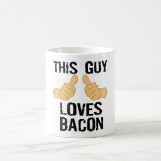 Caneca De Café Esta cara ama o bacon