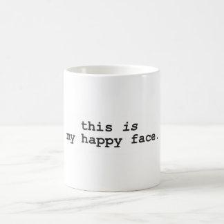 Caneca De Café Esta é minha cara feliz