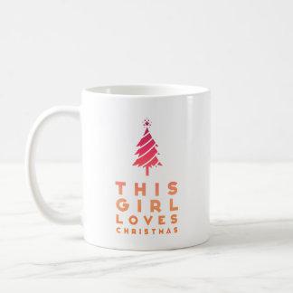 Caneca De Café Esta menina ama o Natal