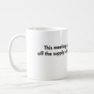 Caneca De Café Esta reunião está fora da cadeia de