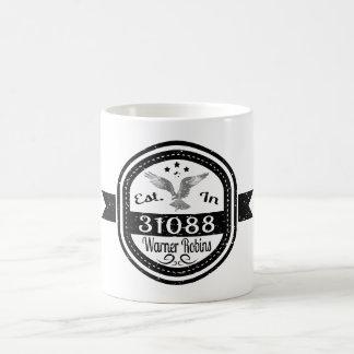 Caneca De Café Estabelecido em 31088 robins de Warner
