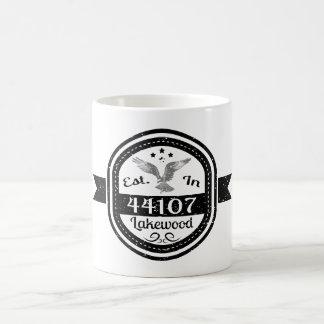 Caneca De Café Estabelecido em 44107 Lakewood