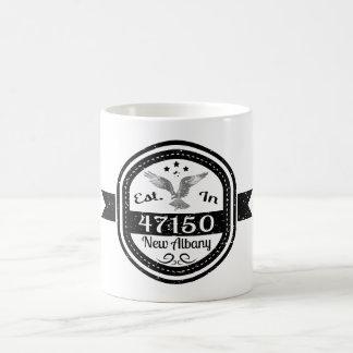 Caneca De Café Estabelecido em 47150 Albany nova