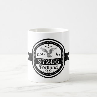 Caneca De Café Estabelecido em 97206 Portland