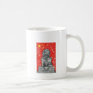 Caneca De Café estátua dos lombos da porcelana do vintage