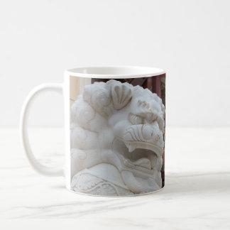 Caneca De Café Estátua tibetana do leão da neve