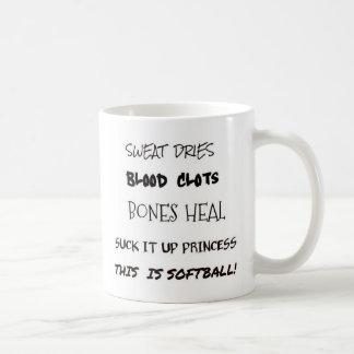 Caneca De Café Este é softball. Sugue-o acima da princesa