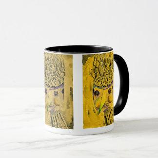 Caneca de café estilizada, caneca artística