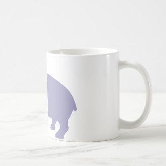 Caneca De Café Estilo cómico do hipopótamo bonito - hippopotamus