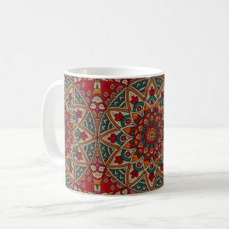 Caneca De Café Estilo da catedral - flor vermelha