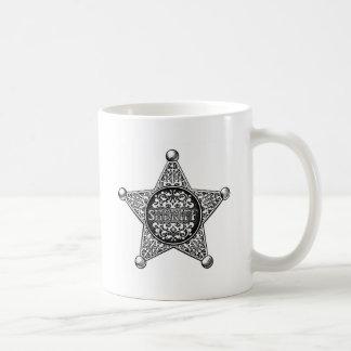 Caneca De Café Estilo ocidental do crachá da estrela do xerife