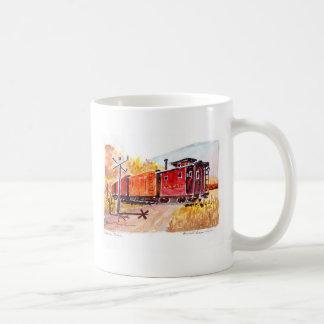 Caneca De Café estrada de ferro-cruzamento, estrada de