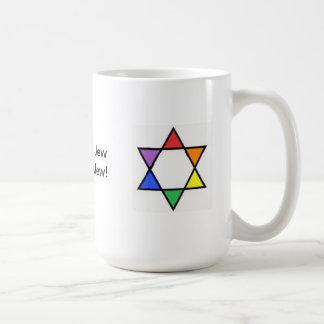 Caneca De Café Estrela de David do arco-íris