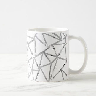 Caneca De Café Estrutura dos triângulos com uma colagem das pias