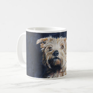Caneca De Café Estudo da cabeça de Norfolk Terrier
