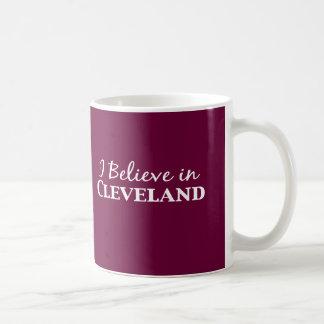 Caneca De Café Eu acredito em presentes de Cleveland