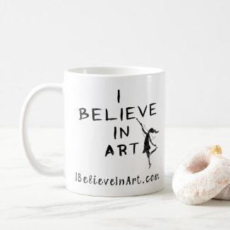 Caneca De Café Eu acredito no promocional da arte