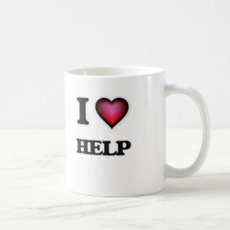 Caneca De Café Eu amo a ajuda