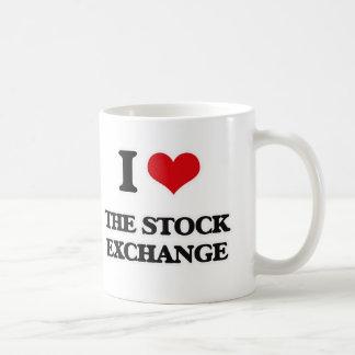 Caneca De Café Eu amo a bolsa de valores