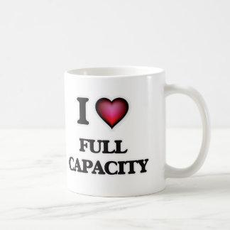 Caneca De Café Eu amo a capacidade total
