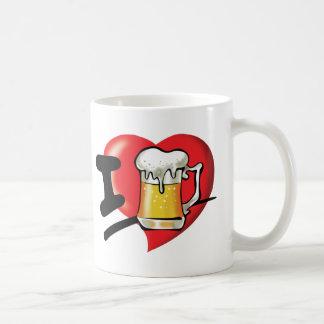 Caneca De Café Eu amo a cerveja