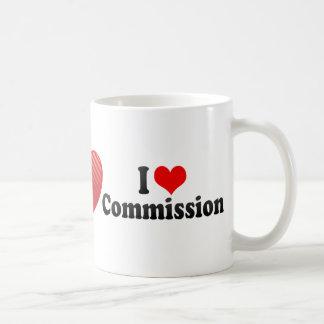 Caneca De Café Eu amo a comissão