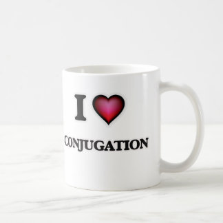 Caneca De Café Eu amo a conjugação