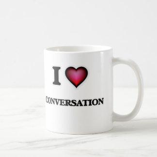 Caneca De Café Eu amo a conversação